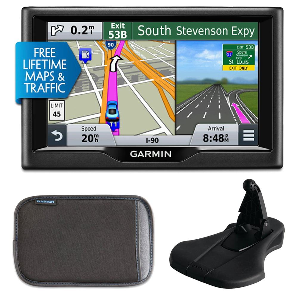 "Garmin nuvi 57LMT5"" Essential Series 2015 GPS Maps/Traffic Carry Case Bundle"