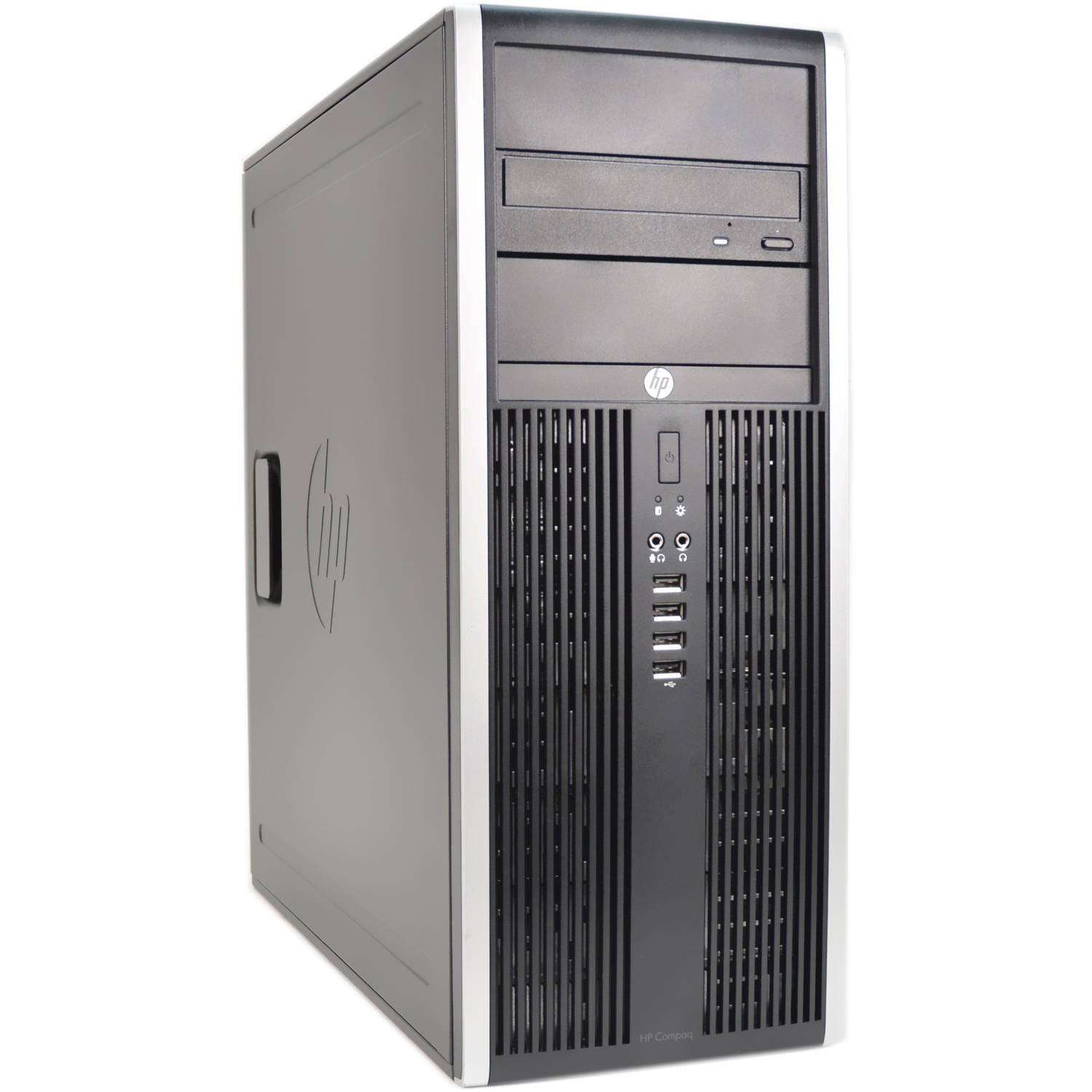 Refurbished HP Black 8000 Desktop PC with Intel Core 2 Duo Processor, 4GB Memory, 1TB Hard Drive and Windows 10 Pro (Monitor Not Included)