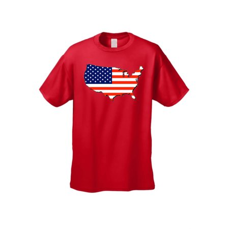 Country Flags T-shirt - USA Flag Men's T Shirt Patriotic Country Short Sleeve Tee