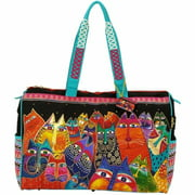 "Laurel Burch Travel Bag Zipper Top 21""X8""X16""-Fantasticats"