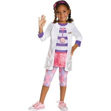 Doc McStuffins Classic Girls Child Halloween Costume (Doc Mcstuffins Adult Costume)