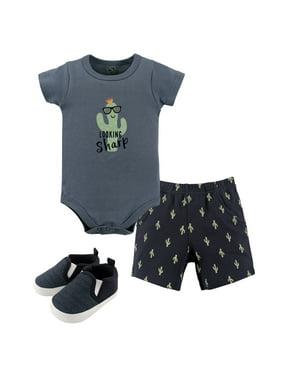 Hudson Baby Boy Bodysuit, Shorts & Shoes