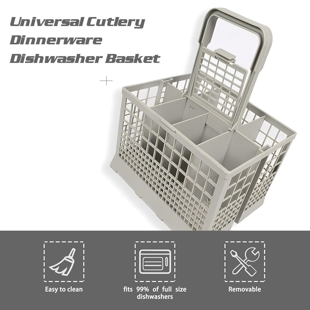Cutlery Dinnerware Dishwasher Basket Universal Dishwasher Basket Replacement Rack Accessory Cutlery Holder fits for Most Dishwasher