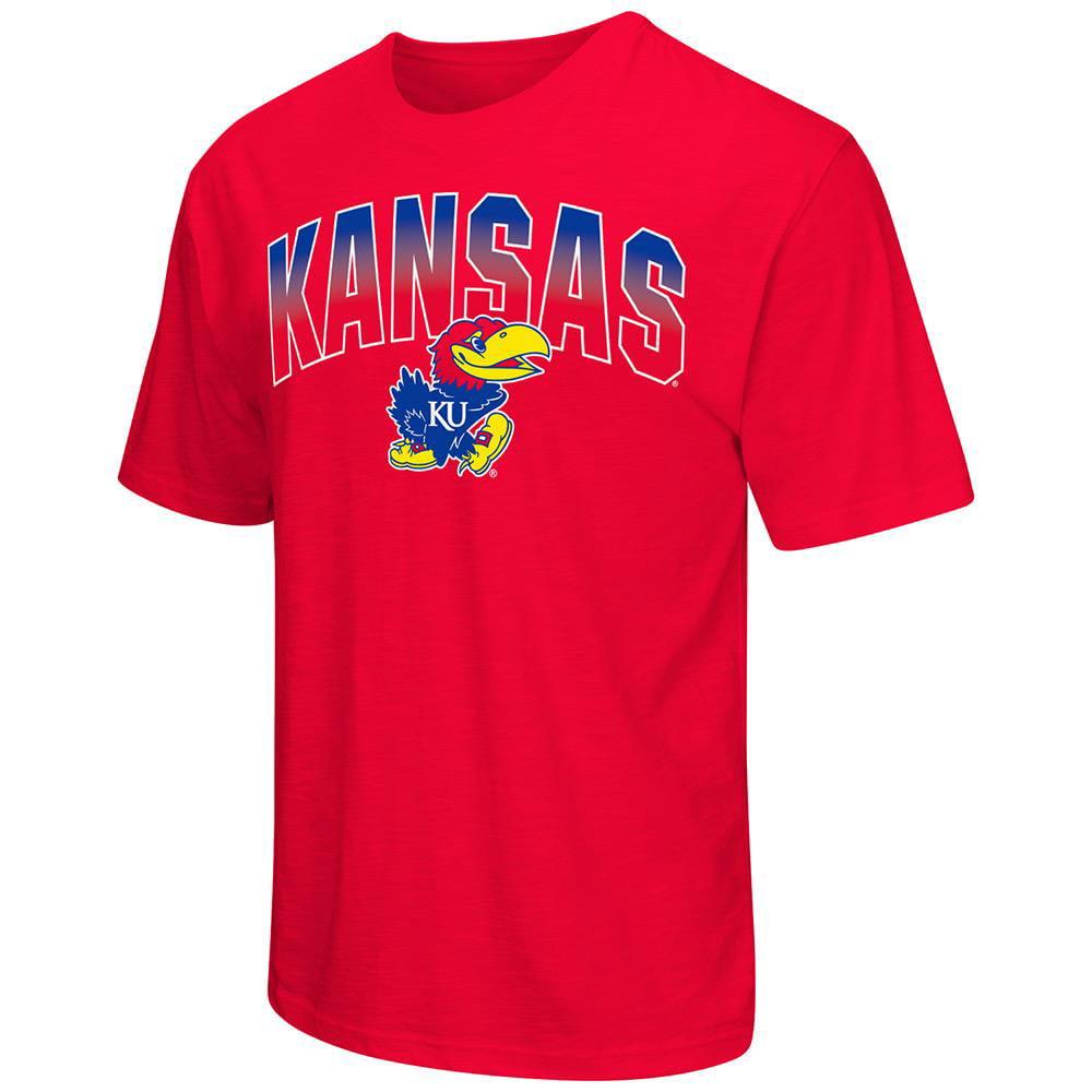 Mens NCAA Kansas Jayhawks Short Sleeve Tee Shirt (Team Color)