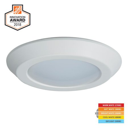 on sale 68e3a 356ec Halo BLD 6 in. White LED Recessed Ceiling Mount Light Trim BLD6089SWHR