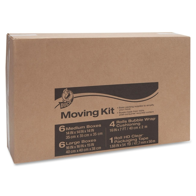 Duck Moving Kit With Bubble Wrap - Heavy Duty - External Dimensionskraft - Brown (DUC280640)