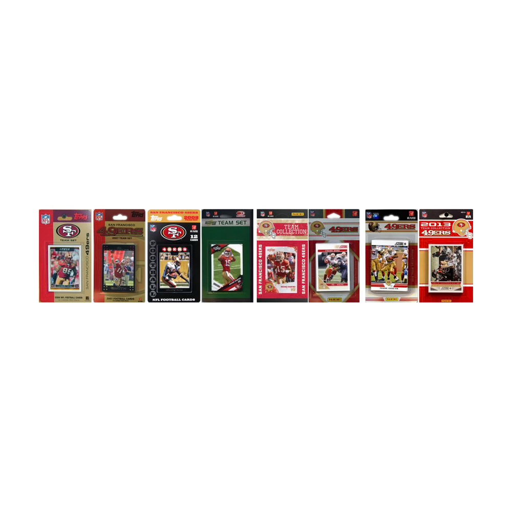 C & I Collectibles 7 Different Licensed Trading Card Team Set