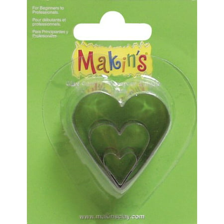 Makin's USA Clay Cutters, Heart, 3 Per Package, Creative and easy to use ways to create the perfectly cut shapes By Makins