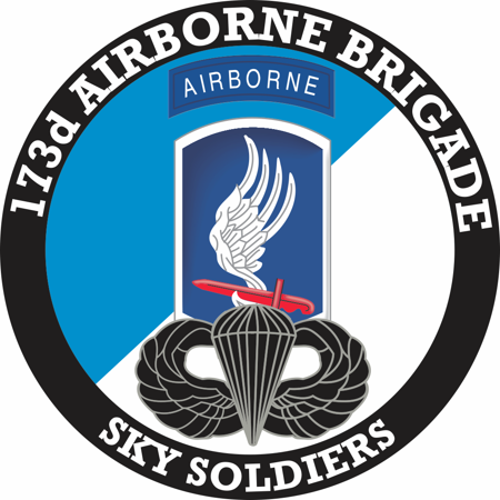 3.8 Inch 173rd Airborne Brigade with Jump Wings Decal