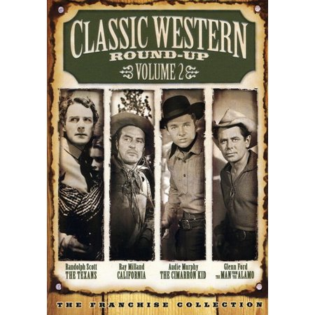 Classic Western Round Up  Vol  2   California   The Cimarron Kid   The Man From The Alamo   The Texans  Full Frame