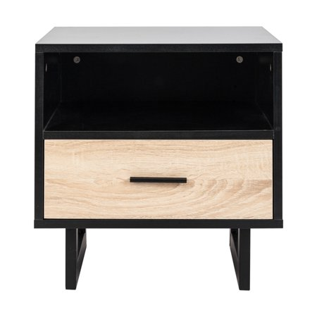 1 Drawer Two-tier Bedside Cabinet Bedroom Wood Night Table Practical and Elegant