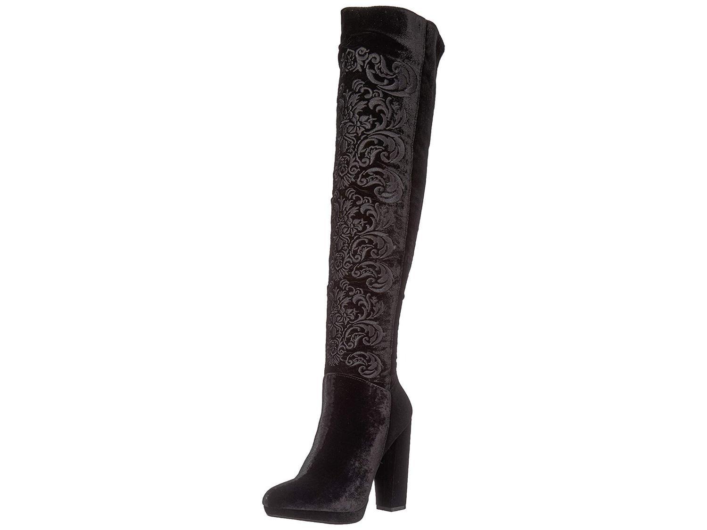 4008e26a6f6 Jessica Simpson Womens grizella Velvet Almond Toe Over Knee