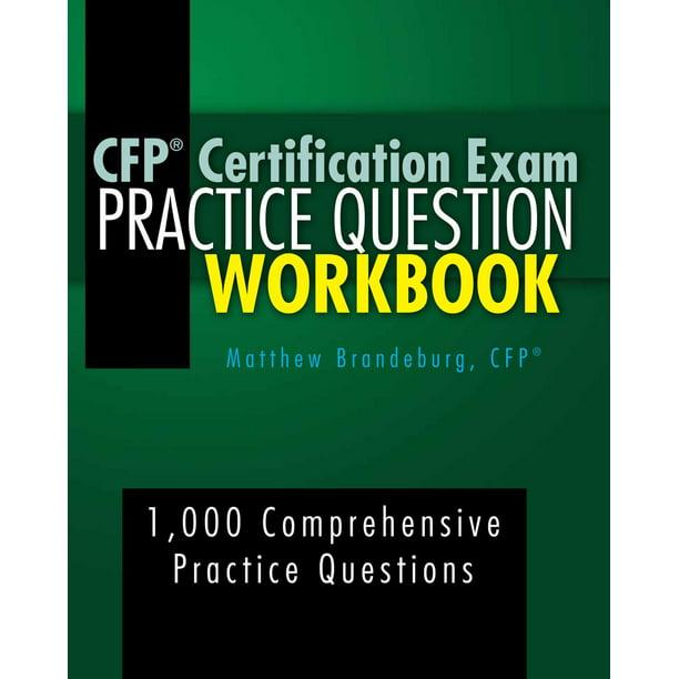 cfp workbook certification exam ebook practice question walmart