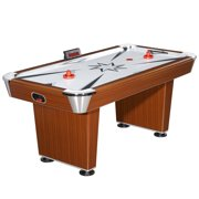 Hathaway Midtown Air Hockey Table, 6-ft, Cherry Wood Finish