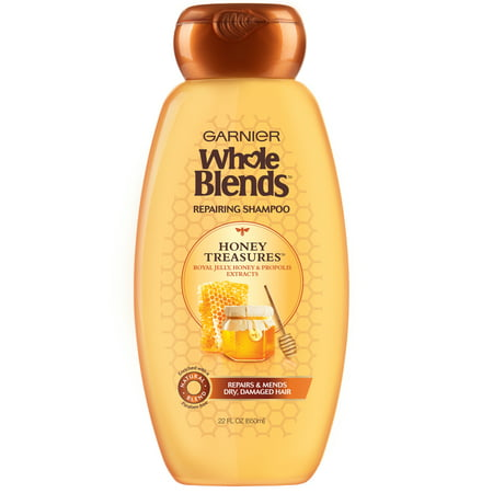 Garnier Whole Blends Repairing Shampoo Honey Treasures, For Damaged Hair, 22 fl. (Best Shampoo For Damaged Hair And Split Ends In India)