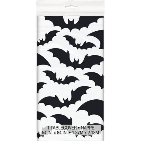 Black Bats Halloween Plastic Tablecloth, 84 x 54 in, 1ct](Printable Halloween Pages)