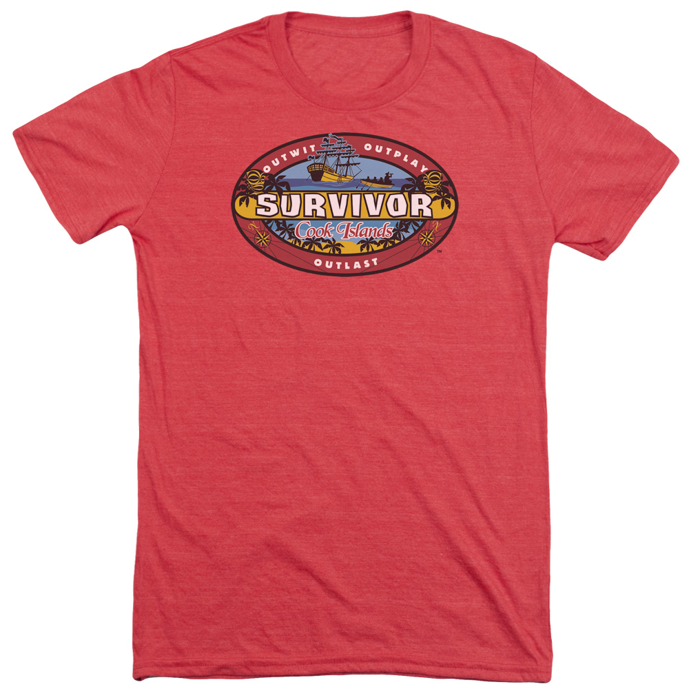 Survivor Cook Islands Mens Tri-Blend Short Sleeve Shirt