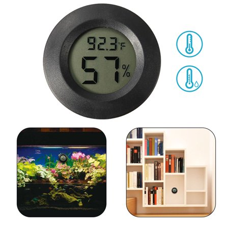 EEEKit Digital Hygrometer Thermometer, Black Round Mini Indoor Outdoor Humidity Temperature Meter Gauge Detector for Humidifiers Dehumidifiers Greenhouse Basement Babyroom