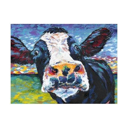 Curious Cow II Print Wall Art By Carolee Vitaletti](Cow Print)