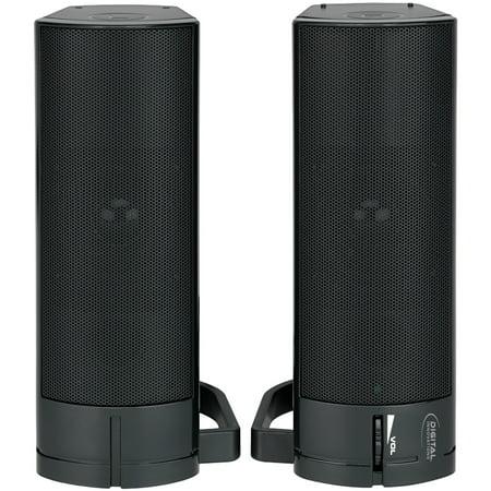 Digital Innovations 4330200 AcoustiX Speaker System 2.0 USB Desktop/Soundbar (Digital Speaker System)