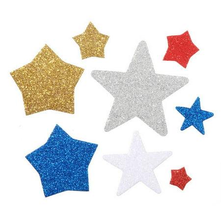 Foamies Glitter Baby Bucket of Stickers: Stars