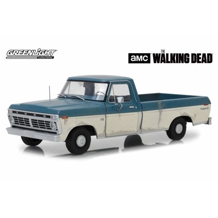 99 00 Ford Ranger Truck - 1973 Ford F-100 Ranger XLT Pickup Truck, The Walking Dead - Greenlight 12956 - 1/18 scale Diecast Model Toy Car