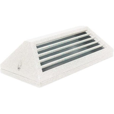 Dabmar Lighting LV608-W Cast Aluminum Surface Mount Louvered Brick, Step, Wall & Deck Light, White - 4 x 7.25 x 2.25