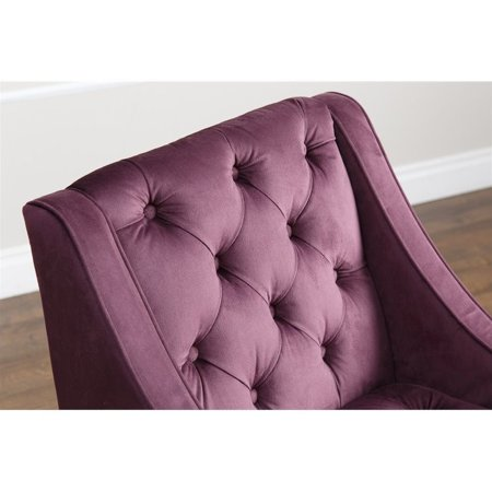 Abbyson Amelia Velvet Arm Chair In Purple Walmart Canada