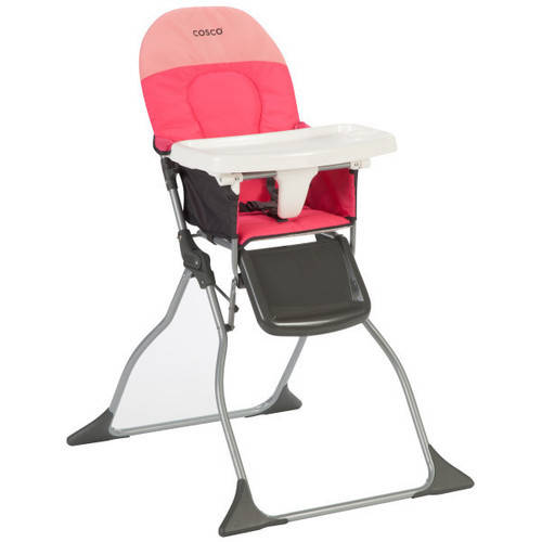 Cosco Simple Fold High Chair, Colorblock Coral