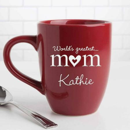 90d81eb2923 Personalized World's Greatest Mom Bistro 14.5 oz Coffee Mug - Walmart.com