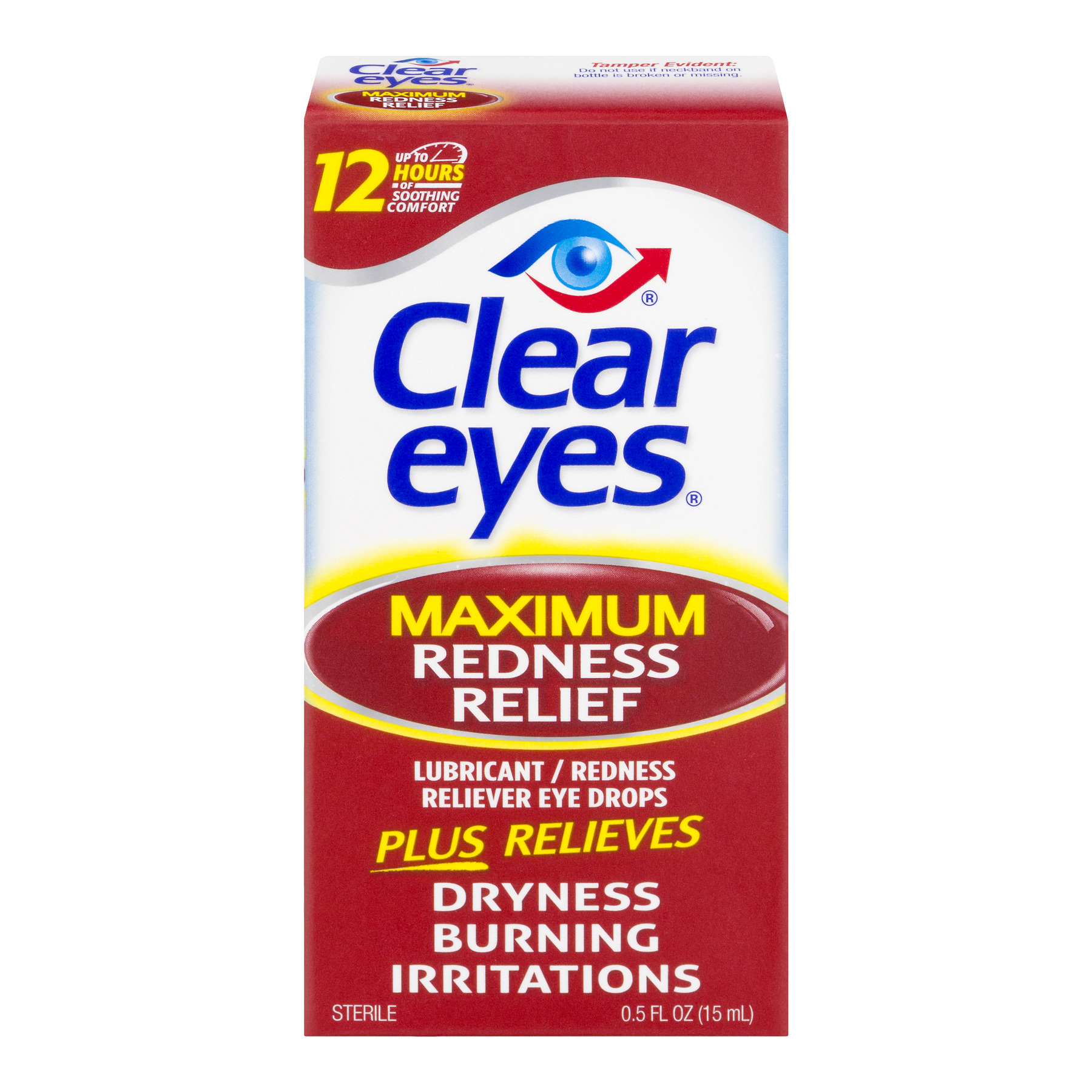 Clear Eyes Maximum Redness Relief Eye Drops, 0.5 FL OZ - Walmart.com at Walmart - Vision Center in Connersville, IN | Tuggl