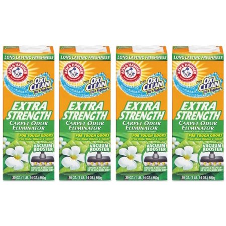 (4 Pack) Arm & Hammer Extra Strength Carpet Odor Eliminator, 30