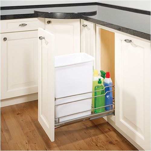 Hafele Single Cabinet-Mounted Pull-Out Trash Bin Frame