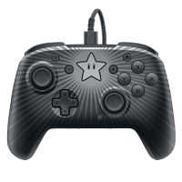 PDP Nintendo Switch Faceoff Super Mario Bros Star Wired Pro Controller, 500-056-NA-D1