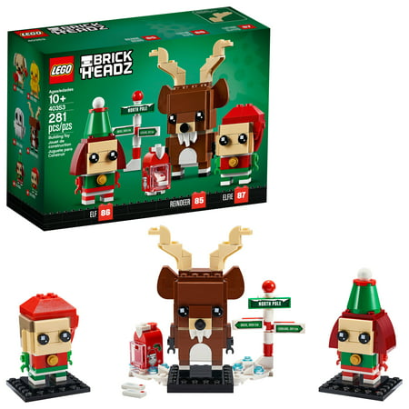 LEGO Brickheadz Reindeer, Elf and Elfie Building Kit Now $9.99 (Was $19.99)