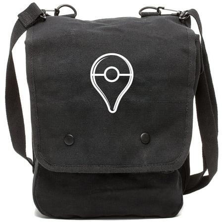 Pokemon Go Plus Button Canvas Crossbody Travel Map Bag Case in