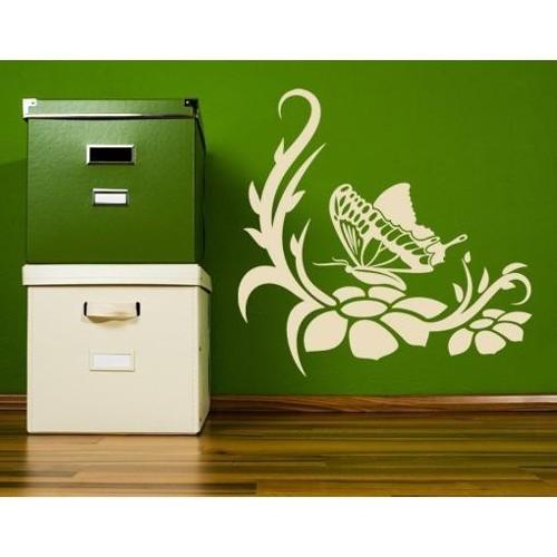 Butterfly Dream Wall Decal 16in x 15in Green