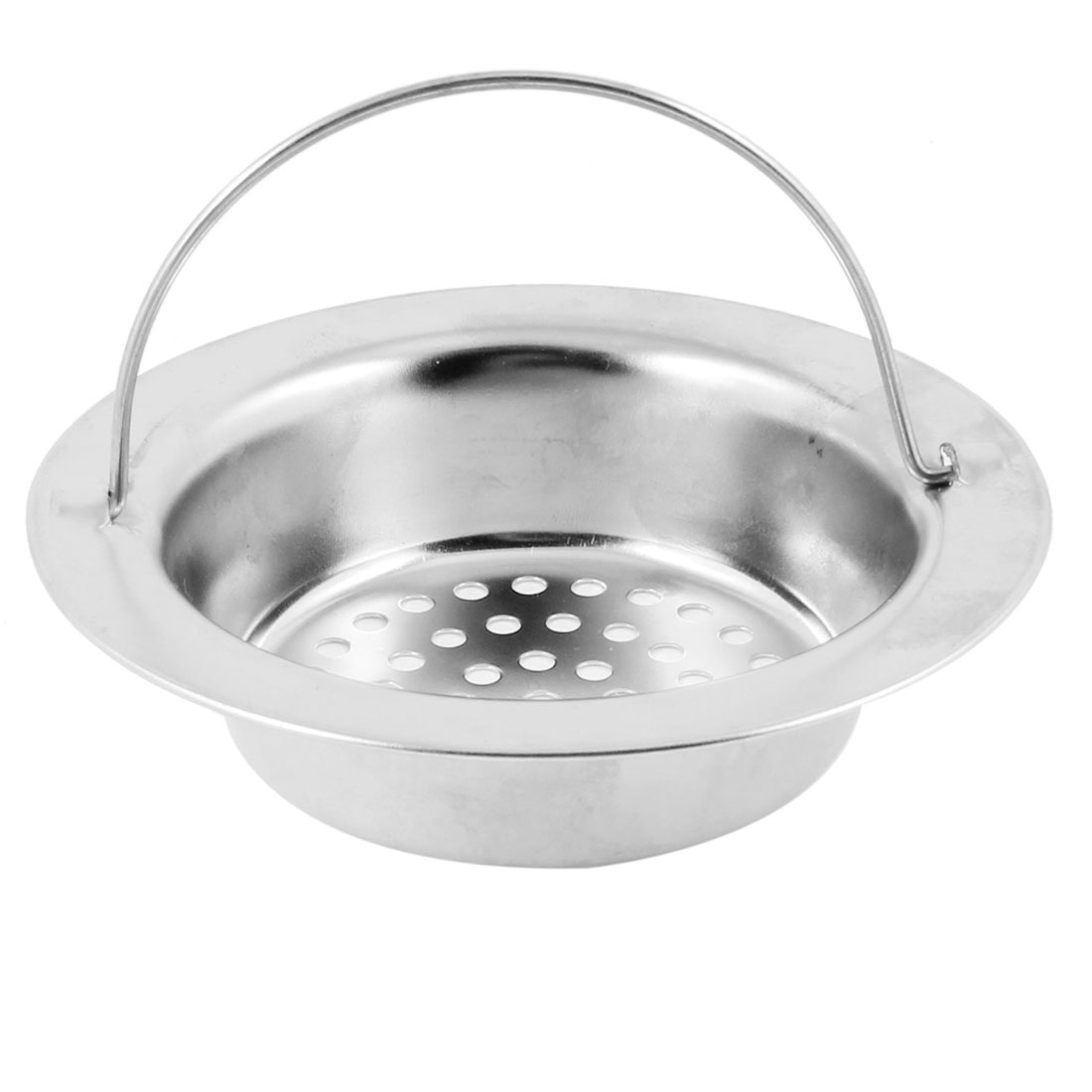 Bathroom Silver Tone Stainless Steel Floor Drain 8.5-9.5cm Dia Strainer Cover - image 1 of 1