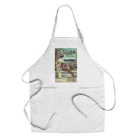 Portland, Oregon - Fifth Annual Rose Festival - Vintage Advertisement (Cotton/Polyester Chef's Apron) (Halloween Festivals Portland Oregon)