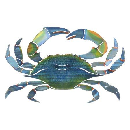 3D East Blue Crab Metal Wall Art By Next Innovations - Walmart.com