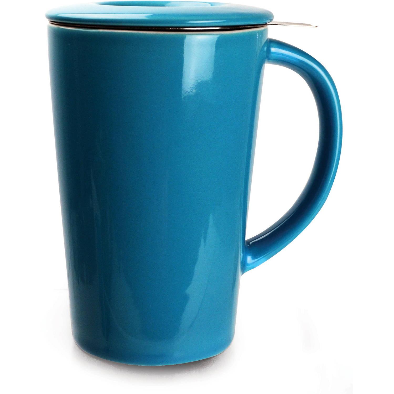 Primula Ceramic Tea Brewing Mug, Blue