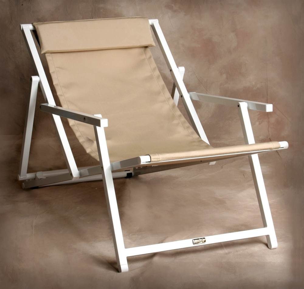 Savannah Adjustable Sling Chair with Arms in Linen