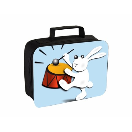 Drumming Bunny Small Travel Toiletry / Cosmetic Case with 3 Compartments and Detachable Hanger](Energizer Bunny Drum)