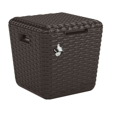 Outdoor Cooler Cube - Brown - Suncast