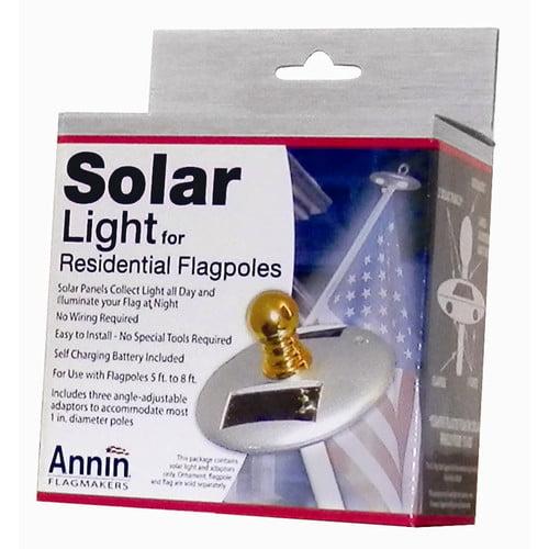 Annin Flagmakers Solar Flagpole Light