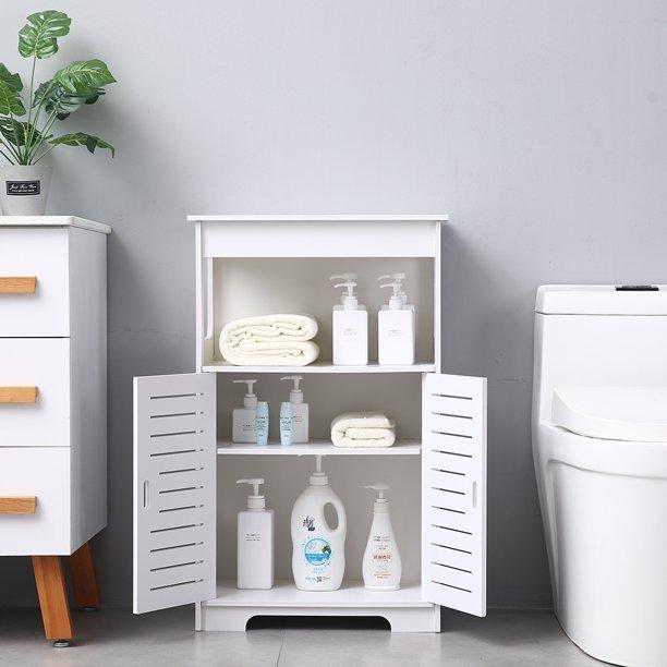 Bathroom Storage Storage Floor Cabinet Organizer For Bathroom Waterproof Pvc Kitchen Storage Cabinet Stylish Bathroom Furniture With 3 Shelves Storage 19 75 X 12 X 31 5 Holds 48lbs Q3902 Walmart Com Walmart Com