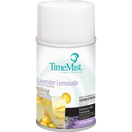 TimeMist, TMS1042757, Lavender Lemon Metered Air Dispenser Refill, 12 / Carton, Clear
