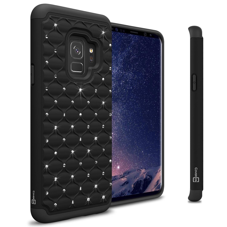 CoverON Samsung Galaxy S9 Case, Aurora Series Rhinestone Phone Cover