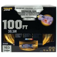 Powerzone ORP711935 SJTOW Tblade Extension Cord, 10/3, 100 ft