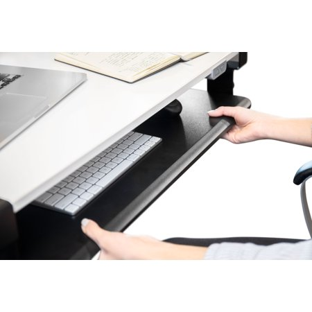 """TechOrbits Keyboard Tray Under Desk –  27"""" Clamp On Keyboard Drawer Computer Stand – Ergonomic Mouse & Keyboard Sliding Tray Computer Desk Extender"""